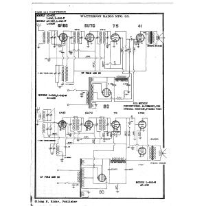 Watterson Radio Mfg. Co. L-540-W