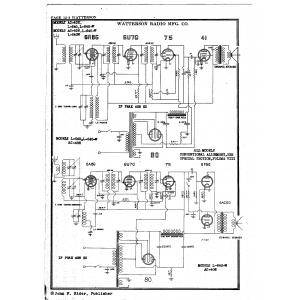 Watterson Radio Mfg. Co. L-640-W