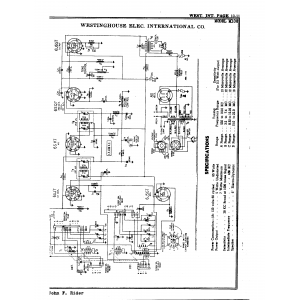 Westinghouse Elec. International Co. M108