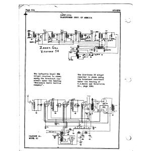 Zaney-Gill Transformer Corp Clarion Jr. 60