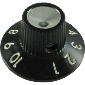 614c7d75775 Knob - Skirted Blackface Silverface. Black knob with white ...