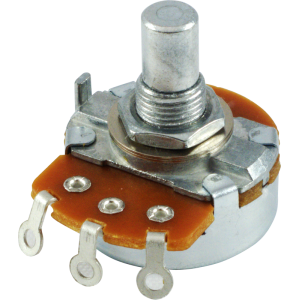 integrated circuit 4558, dual op amp amplified partspotentiometer alpha, linear, solid shaft