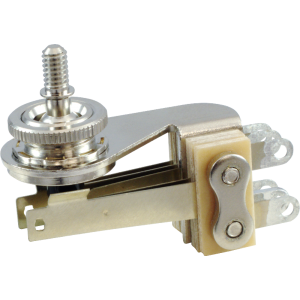 Switch - Switchcraft, Pickup Selector Toggle, 3 Pos, Nickel Finish, Right Angle