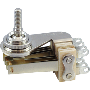 Switch-Switchcraft, Pickup Selector Toggle, DPDT, Nickel Finish, Right Angle