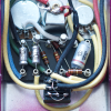 "Customer image: ""Carbon Comp resistors in a fuzz face turret board build"""