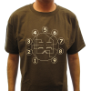 T-Shirt - Brown with Dual Triode Tube Pin-out image 2