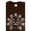 T-Shirt - Brown with Dual Triode Tube Pin-out image 1
