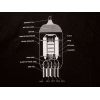 Shirt - Black with 12AX7 Tube Diagram image 1