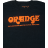 T-Shirt - Orange Amps, Black Retro image 1