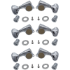 Tuners - Gotoh, Midsize 510, Metal Knobs, 3 per side, diag. mount image 1