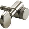 Tuners - Kluson, 3 per side, Locking, Large Metal knob, Nickel image 3