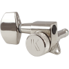 Tuners - Kluson, 3 per side, Locking, Large Metal knob, Nickel image 2