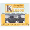 Tuner - Kluson Supreme, Oval knob, 6 in line, Nickel image 3
