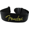 "Guitar Strap - Fender, 2"", Black, Yellow Logo image 2"