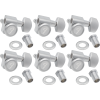 Tuners - Fender, Locking Tuners, 6 in line, satin chrome image 1
