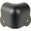 Corner - Black steel, 2-Hole, 18 Gauge, Notched image 1