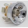 Jack Plate - Electrosocket, for Tele, chrome plated brass image 2