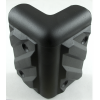 Corner - Black Plastic, 4-Hole, Heavy Duty, Chevron image 2