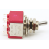 Switch - Carling, Mini Toggle, DPDT, 2 Position, Solder Lugs, Short Bat image 1