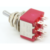 Switch - Carling, Mini Toggle, DPDT, 2 Position, Solder Lugs, Short Bat image 2