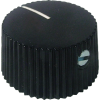 Knob - Black, White Line, Set Screw image 1