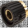 Knob - Black, Cap, Mini Marshall Style, Set Screw image 4