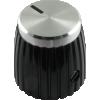 Knob - Black, Cap, Set Screw, for Marshall image 2