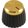 Knob - Marshall, set screw, gold cap image 2