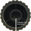 Knob - Marshall, Black, Gold Top, Push-On, D Shaft image 3