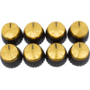Knob - Marshall, Black, Gold Top, Push-On, D Shaft image 1