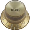 Knob - Top Hat, Gold with Gold Cap, Gibson Style image 2