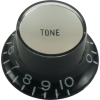 Knob - Top Hat, Black with Silver Cap, Gibson Style image 1