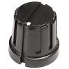 "Knob - Plastic, Set Screw, Knurled w/ Dot, 0.605"" Diameter image 1"