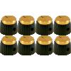 Knob - Marshall, set screw, gold cap image 1