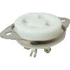 Socket - 4 Pin, Ceramic, Chassis Mount image 1