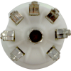 Socket - 7 Pin, Miniature, Standoff Ceramic PC Mount, Center Lug image 3