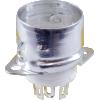 Socket - 7 Pin, Miniature, Ceramic, with Shield Base image 1