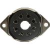 Socket - 8 Pin Octal, Saddle Plate, Black, Bottom Mount image 2