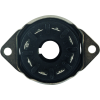 Socket - 8 Pin Octal, Saddle Plate, Black, Top Mount image 3