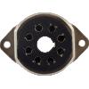 Socket - 8 Pin Octal, Saddle Plate, Black, Top Mount image 2