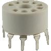Socket - 9 Pin, Miniature, Plastic, PC Mount image 1
