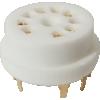 Socket - 9 Pin, Ceramic, PC Mount, Gold Pins image 1