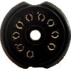 Socket - 9 Pin, PC Mount, Black Plastic image 2