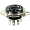 "Socket - 9 Pin, Plastic, 3/4"" mounting hole, top mount image 1"