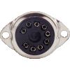 "Socket - 9 Pin, Plastic, 3/4"" mounting hole, top mount image 2"