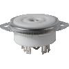 Socket - 9 pin miniature, ceramic image 1