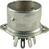Socket - Belton, 9 pin, crimped with shield base, Micalex image 1