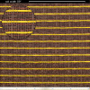 """Grill Cloth - Oxblood, Gold Stripe, 59"""" Wide image 1"""