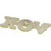 Logo - Vox™, Gold plastic, large size image 2