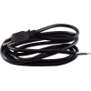 Cord - Power, 18 AWG, 3 Conductor, Black, No IEC, 8 Feet image 1